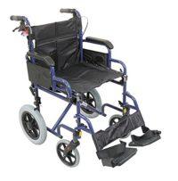 Aidapt Blue Deluxe - Silla de ruedas asistida y de transporte, color negro ...