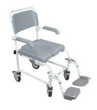 Aidapt VB502 Bewl - Silla con ruedas para ducha
