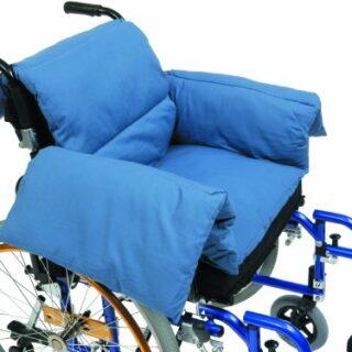 Drive Medical RT-CU009 - Cojín en T para silla de ruedas, azul