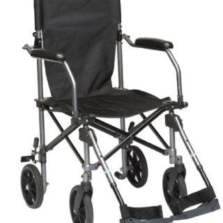 Drive Medical TC005 Travelite - Silla de ruedas (45,5 cm, aluminio)