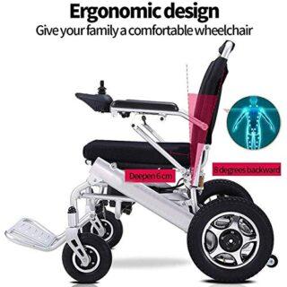 Frpower Deluxe Electric Motorizado Silla de ruedas Plegable Plegable para ...