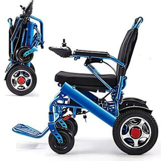 Jghjh The Electric Wheelchair Ligero Aleación de aluminio plegable ...
