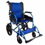 Mobiclinic, Silla de ruedas, Plegable, Aluminio, Frenos de palanca, Azul ...