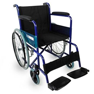 Mobiclinic, Silla de ruedas plegable, Manual, Ancho del asiento 46 cm, Azul ...