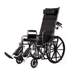 NIUSION Empuje a mano la silla de ruedas portátil plegable, R ...