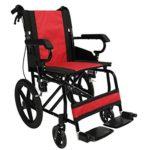 Polironeshop PRATIKA Silla de ruedas plegable de aluminio y ...