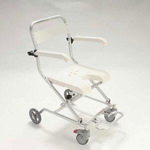 RAQ Silla de baño de aleación de aluminio con ruedas silla de ducha ...