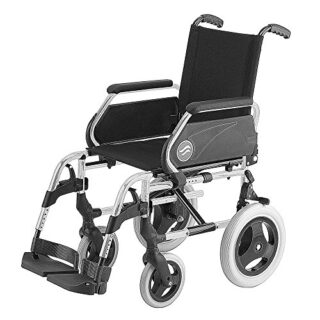 """Silla de ruedas Breezy 250 en acero cromado con ruedas pequeñas de 12""""..."""