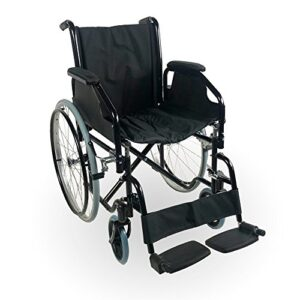 Silla de ruedas, Plegable, Ruedas grandes, Ortopédico, Ligero, Acero, ...