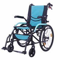 Silla de ruedas de aluminio, apoyabrazos móvil con marco de luz plegable ...