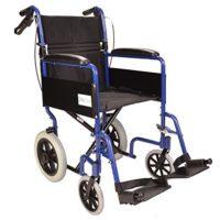 Silla de ruedas de tránsito ligera y plegable con freno de mano ECTR01