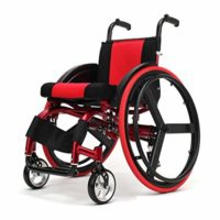 Silla de ruedas deportiva Limiss, silla de ruedas plegable portátil ...