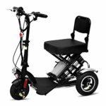 Silla de ruedas eléctrica para ancianos discapacitados Mini Tricic plegable ...
