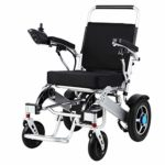 Silla de ruedas eléctrica plegable, aleación de aluminio, freno eléctrico ...