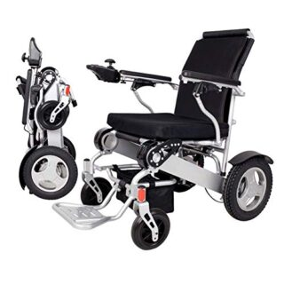 Silla de ruedas eléctrica plegable portátil ligera Frpower ...