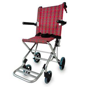 Silla de ruedas para tránsito, plegable, aluminio, frenos de palanca, ...