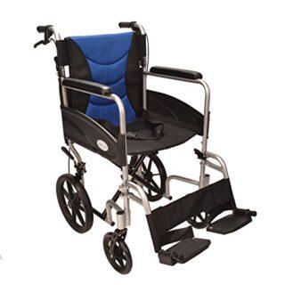 Silla de ruedas plegable, ligera y con frenos ECTR07