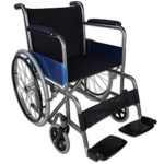 Silla de ruedas, plegable, ruedas grandes, ortopédica, ligera, negra, ...