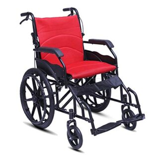 Silla de ruedas plegable, silla de viaje de transporte portátil con ...
