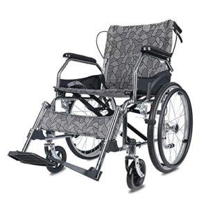 Silla de ruedas plegable ultraligera, sistema de frenado doble ...