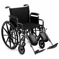 Silla de ruedas plegable y resistente con reposapiés autopropulsado y ...