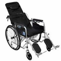 Silla de ruedas reclinable estándar con reposacabezas desmontable, rep ...