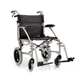 YUWELL - Silla de ruedas plegable de aluminio ultraligero con freno de estacionamiento