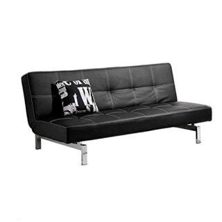 Adec - Chic, Sofá cama sistema clic clac, sofa tapizado polipiel patas...