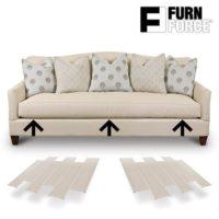 Hasëndad Furn Force - Paneles para Sofá, Blanco, 48 x 10.5 x 3 cm, 6 U...