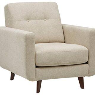 Marca Amazon -Rivet Sloane - Butaca capitoné de diseño estilo Mid-cen...