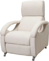 Miss Sofa Fiona Sillón Relax Reclinable 3 Posiciones, Pino, Beige Clar...