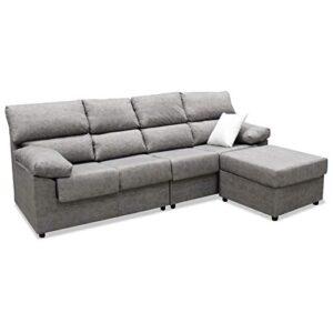 Mueble Sofa ChaiseLongue, Subida Domicilio, Cuatro plazas, Color Gris,...