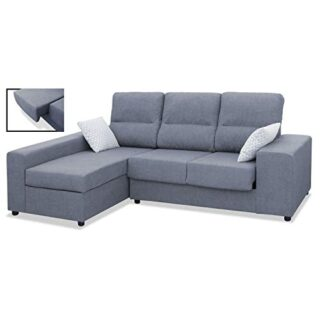 Mueble Sofa Chaiselongue, Subida Domicilio, 3 Plazas, Color Gris, Ches...