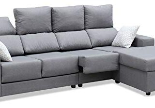 Mueble Sofa Chaiselongue, Subida Domicilio, 4 Plazas, Color Gris, Exte...