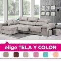 Mueble Sofa con Chaise Longue, tapizado al Gusto, 4 plazas, Subida A D...
