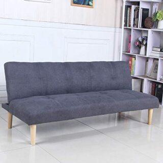 Sofá Cama 3 plazas Clic Clac Joy Gris Oscuro tapizado con Tela 100% Po...