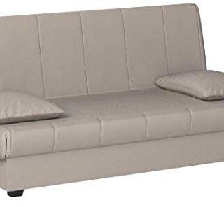 Sofa Cama Clic CLAC con ARCÓN DE ALMACENAJE Gris