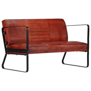vidaXL Sofá de 2 plazas, Vintage, de Piel, tapizado, sofá, sofá, salón...