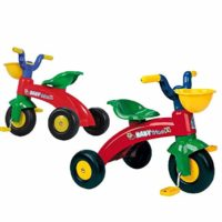 INJUSA Max Tricycle Triciclo con cesta delantera, color rojo / verde, 12m + ...