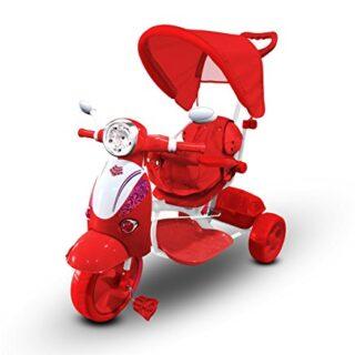 LT 854 Triciclo con pedales para bebés con 3 canciones integradas en ca ...