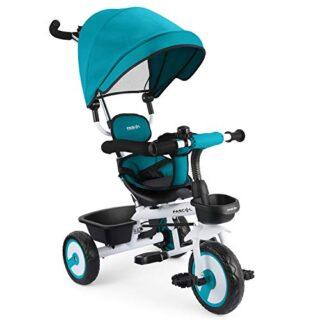 Triciclo Fascol 4 en 1 para niños con asiento giratorio Adecuado para ...