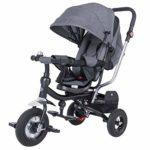 Triciclo ajustable Spielwerk antracita para bebés y niños con ...