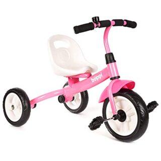Triciclo boppi para niños de 3 ruedas con pedales - Rosa