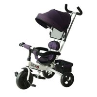 Triciclo para niños HOMCOM con capucha desmontable y plegable para mayo ...