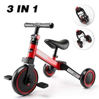 Tricilos para niños, Besrey 3 en 1 Una bicicleta multipropósito, triciclo y bicicleta ...