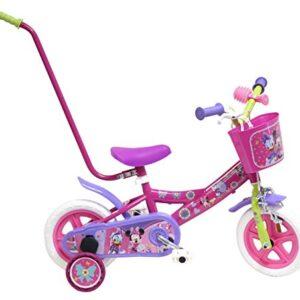 Bicicleta Disney Minnie infantil con barra de aprendizaje 10 en rosa 2-4 ...