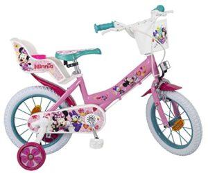 Bicicleta Toimsa Minnie de 14 a 4 a 6 años. Tiene portab ...