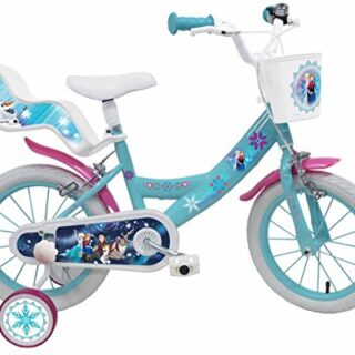 "Denver Bike Frozen, 16 ""Girls City 16"", acero azul, bicicleta blanca ..."