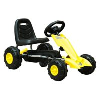HOMCOM Go Kart Steel Sports Pedal Car con frenos para niños ...