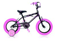 "INJUSA Hello Kitty - Bicicleta de 12 "", color negro 609000"